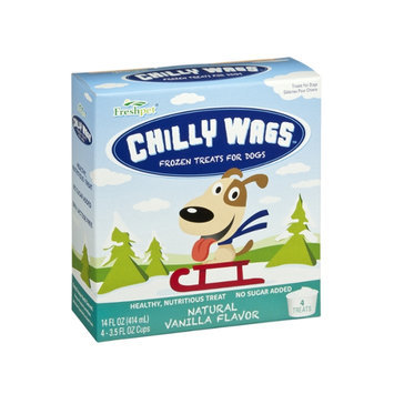 Freshpet Chilly Wags Natural Vanilla Flavor Frozen Treats for Dogs - 4 CT