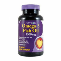 Natrol Omega-3 Fish Oil Lemon 1000 mg 90 Softgels