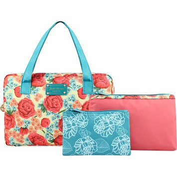 Jacki Design Miss Cherie 3 Piece Cosmetic Bag Gift Set Coral - Jacki Design Ladies Cosmetic Bags