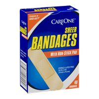 CareOne Sheer Bandages with Non-Stick Pad