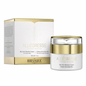 Bibasque Allegresse 24K Gold Bio Anti Wrinkle Cream, 1.7 oz