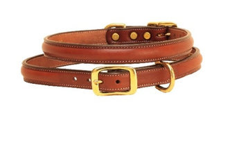 Tory Leather Raised Leather Dog Collar