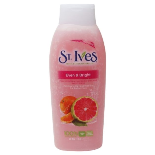 St. Ives Body Wash, Even & Bright Pink Lemon & Mandarin Orange, 24 fl oz