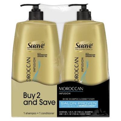 Suave Professionals Moroccan Infusion Shine Shampoo & Conditioner -