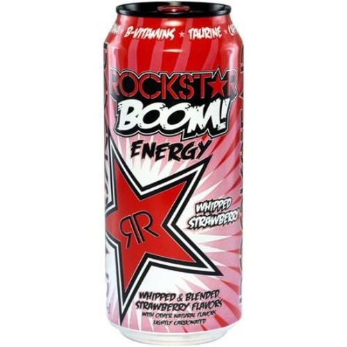 Rockstar Boom! Whipped Strawberry Energy Drink, 16 fl oz