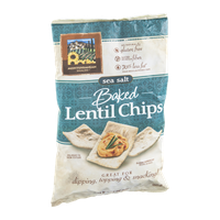 Mediterranean Snacks Lentil Chips Baked Sea Salt