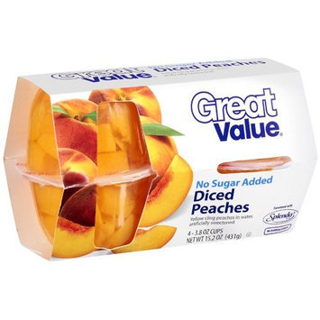 Great Value Diced Peaches, 15.2 oz