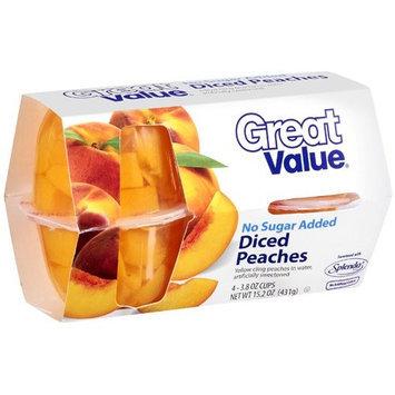 Great Value Diced Peaches, 15.2 oz