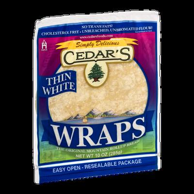 Cedar's Wraps Thin White