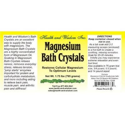 Health And Wisdom MAGNESIUM BATH CRYSTALS 1.75# UP TO 14 BATHS