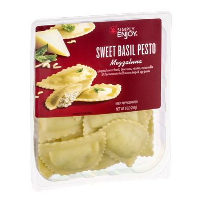 Simply Enjoy Sweet Basil Pesto Mezzaluna