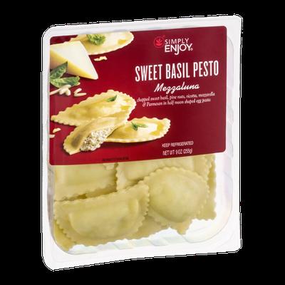 Simply Enjoy Sweet Basil Pesto Mezzaluna