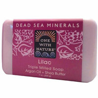 One With Nature Triple Milled Soap Bar Lilac 7 oz