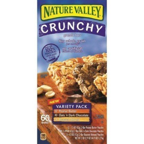 Nature Valley Crunchy Granola Bars Variety Pack - 60 ct.