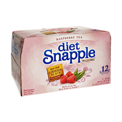 Snapple Diet No Calories Raspberry Tea - 12 PK