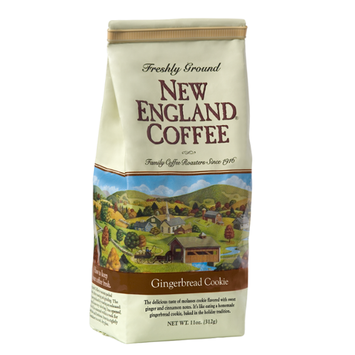 New England Coffee Gingerbread Cookie Freshly Ground Coffee
