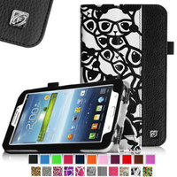 Fintie Folio Classic Leather Case for Samsung Galaxy Tab 3 7.0 inch Tablet, Panda Pattern