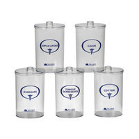 Mabis Healthcare MABIS Plastic Stor-A-Lot Sundry Jars with Imprints, Clear