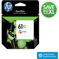HP 61XL Printer Ink Cartridge - Multicolor (CH564WN#140)
