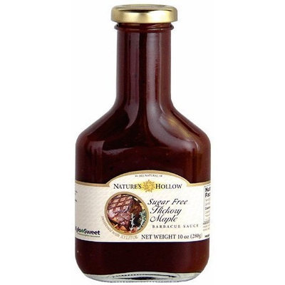 Nature's Hollow Hickory Maple Sugar Free BBQ Sauce Sweetened with Xylitol 10 oz bottle