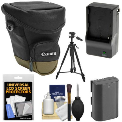 Canon Zoom Pack 1000 Digital SLR Camera Holster Case with LP-E6 Battery & Charger + Tripod + Accessory Kit for EOS 6D, 7D, 70D, 5D Mark II III