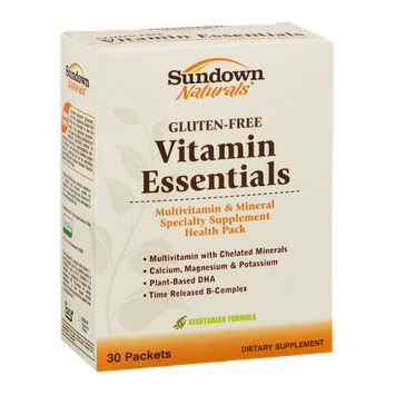 Sundown Naturals Vitamin Essentials Multivitamin & Mineral Specialty Supplement Health Pack - 30 CT