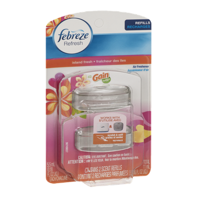 Febreze Refresh Air Freshener Refills Gain Island Fresh - 2 CT