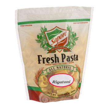 Sapore Fine Gourmet Pasta Fresh Pasta Rigatoni