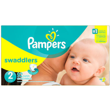 Babies R Us Pampers Diapers Swaddlers Size 2 Super 92 count