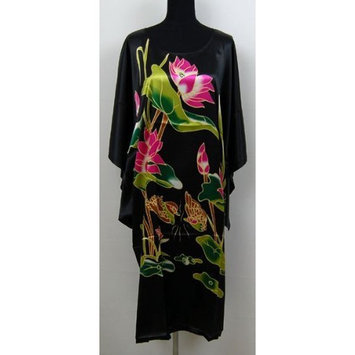 Shanghai Tone® Chinese Kimono Robe Sleepwear Nightgown Black One Size