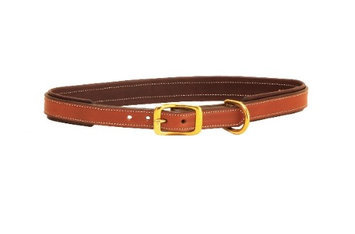 Tory Leather 2-Tone Padded Leather Dog Collar