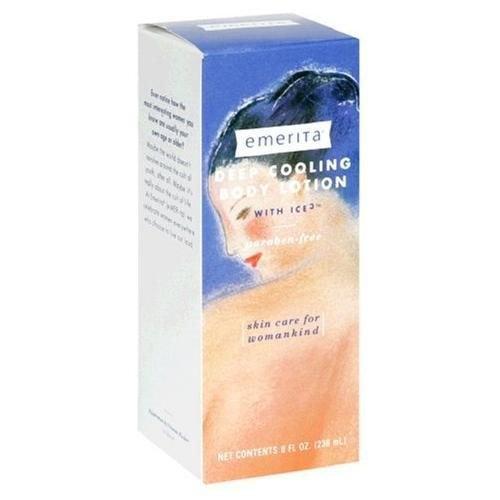 Emerita Deep Cooling Body Lotion, with Ice 3, 8 fl oz (236 ml)