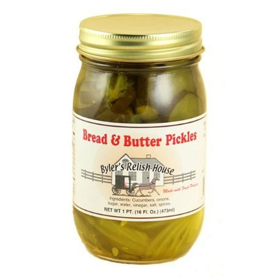 Byler's Relish House Homemade Amish Country Bread & Butter Pickles 16 oz.