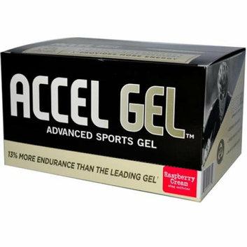 Endurox PacificHealth Labs  Accel Gel Energy Gel Raspberry Cream with Caffeine 24 Packs