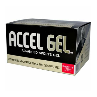Endurox PacificHealth Labs  Accel Gel Energy Gel Raspberry Cream with Caffeine 24 Packs