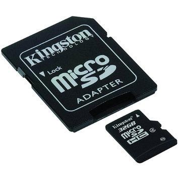 Kingston SDC4 microSDHC Class 4 Flash Card - 32GB, Adapter
