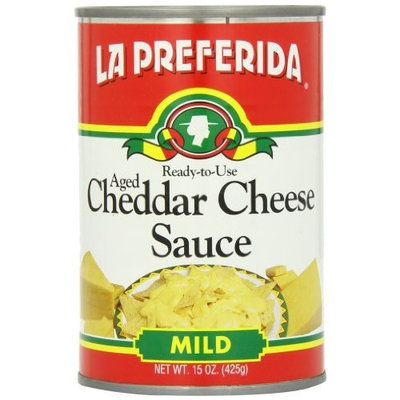 La Preferida Cheddar Cheese Sauce, 15-Ounce (Pack of 12)