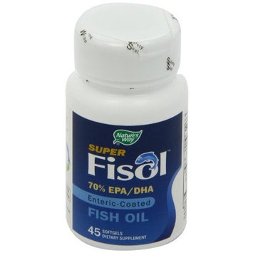 Nature's Way Super Fisol Fish Oil Softgels, 45-Count