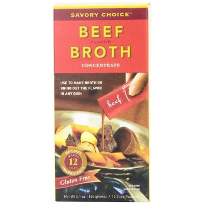 Savory Choice Liquid Beef Broth Concentrate, 5.1 Ounce Box