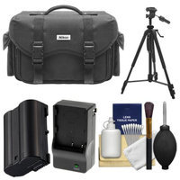 Nikon 5874 Digital SLR Camera Case - Gadget Bag with EN-EL15 Battery + Charger + Tripod + Cleaning Kit for D7000, D7100, D610, D800 & D810