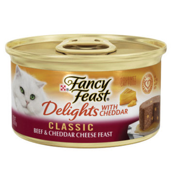 Fancy Feast® Delights With Cheddar Wet Cat Food Classic Beef & Cheddar Cheese