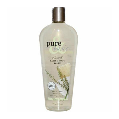 Pure and Basic Revitalizing Natural Bath and Body Wash 12 fl oz