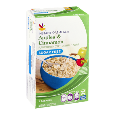 Ahold Instant Oatmeal Apples & Cinnamon Sugar Free - 8 CT