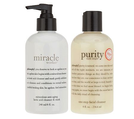philosophy miracle worker & purity made simple cleanser duo