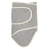 Miracle Blanket Swaddle in Gray with Yellow Trim