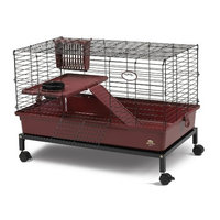 Super Pet My First Home Deluxe with Stand, Burgundy, Large