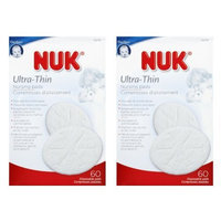 NUK Ultra Thin Breast Pads, Pack of 2, White, 120-Count (Discontinued by Manufacturer)