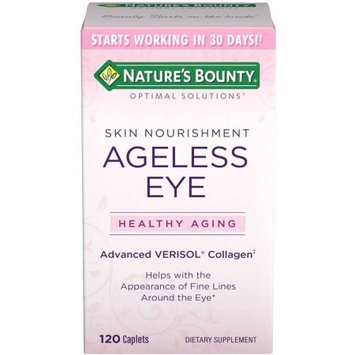Nature's Bounty Optimal Solutions Ageless Eye Advanced Verisol Collagen Dietary Supplement, 120 count
