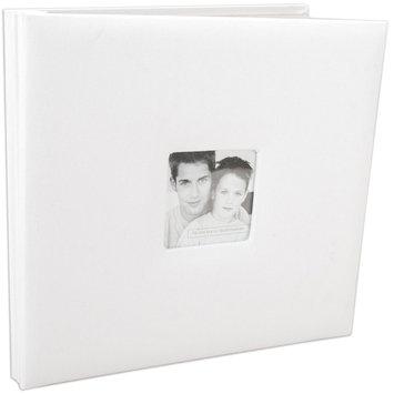 Mcs MBI Fashion Fabric Postbound 12x12 Scrapbook Album - White