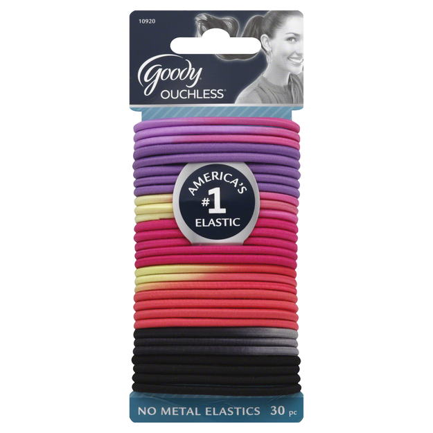 Goody Products Inc. Ouchless Hair Elastics- Double Dare Me, 30 pcs
